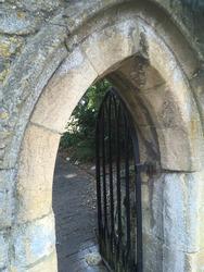 stone arch passage doorway portal