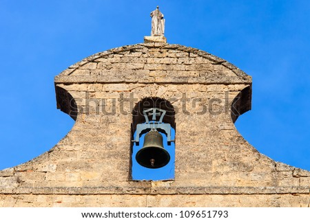 stone bell tower of a church