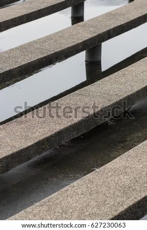 stone bench in stadium #627230063