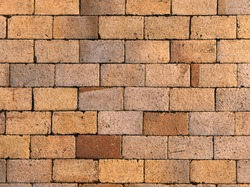 Stone Block Seamless Background. Brick path with different colors stones. Sandstone pavement, crude stone, pebble pavement, wall of stone, cobbled street. gardening outdoor and indoor interiors