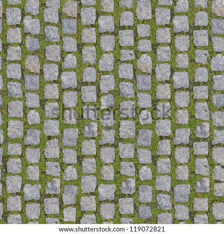 Stone Block with Grass - Seamless Background. (more seamless backgrounds in my folio).