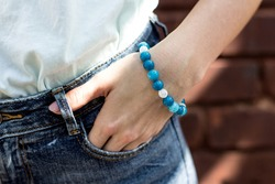 stone bracelet jewelry for women blue green red