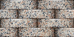 stone brics elevation wall tiles design for outdoor wall and background wallpaper.
