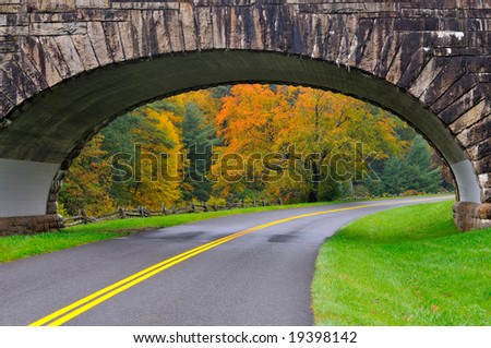 Stone Bridge over the Blue Ridge Parkway in Virginia near the North Carolina border.