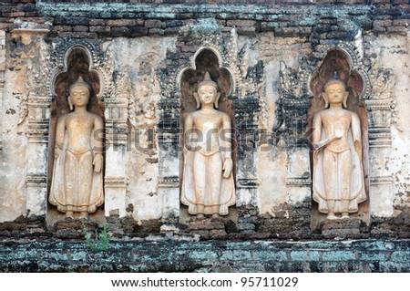 Stone buddha sculpture in thai temple