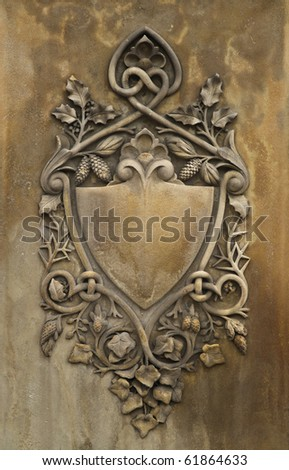 Stone Carved Shield