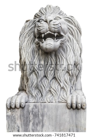 stone carving lion or marble...