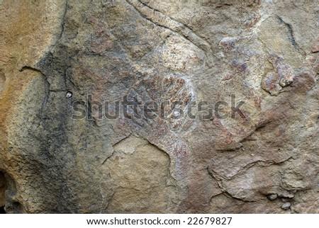 Stone carvings in Gobustan,Azerbaijan