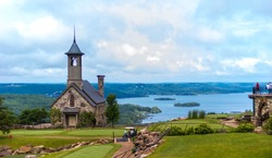 Stone church at top of the rock in Branson Missouri