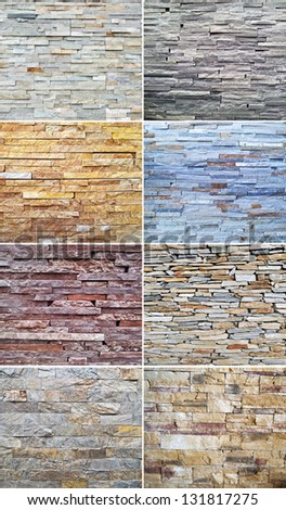Stone collage background