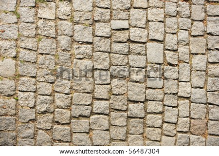 Stone cubes, path, background