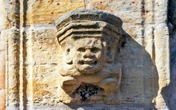 Stone demon. Roslyn chapel. United Kingdom