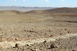Stone desert near monastery Mar Musa in Syria