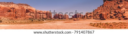 Stone Desert of Utah - a place of Western shooting #791407867