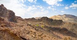 stone desert Rub' al Khali, UAE