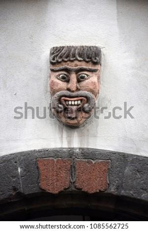 Stone figure in Koblenz, Germany #1085562725