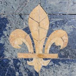 Stone fleur-de-lis also called fleur-de-lys