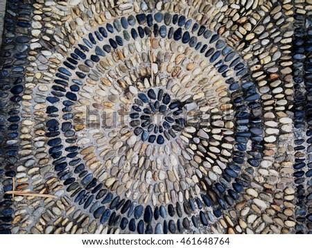 Stone Floor Beautiful in Thailand.