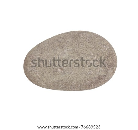 stone Granite,isolated on white - stock photo