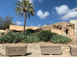 Stone Graves outside Catacomb of Kom El Shoqafa