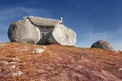 Stone house in Fafe mountains, Portugal.