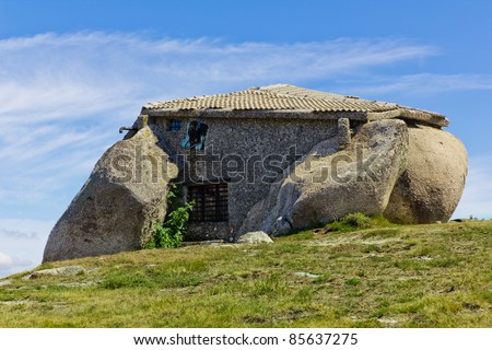 Stone house in the top of a moutain