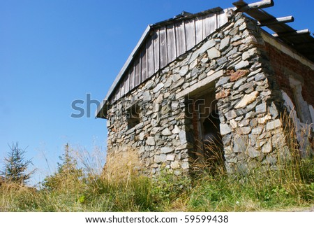 stone house located in the mountains