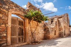 Stone house on the old street of Spinalonga island
