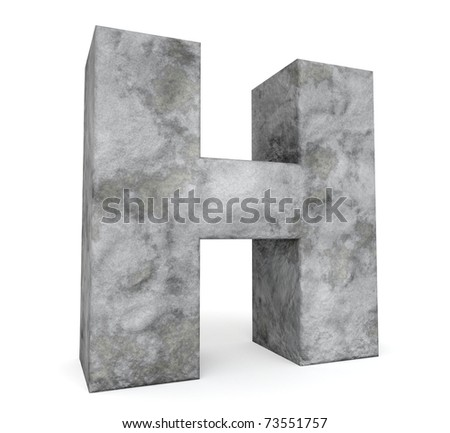 stone letter collection - letter H