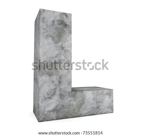 stone letter collection - letter L