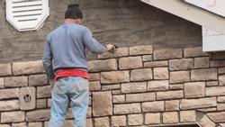 Stone Mason Working 1