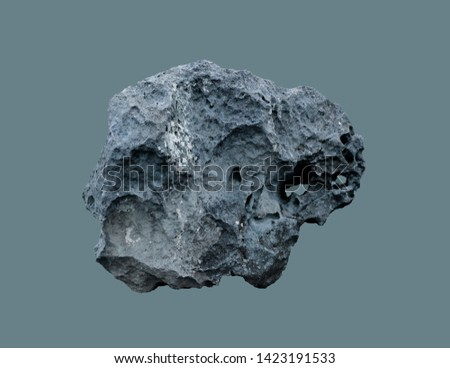 Photo of  Stone meteorite from space, on an isolated background.
