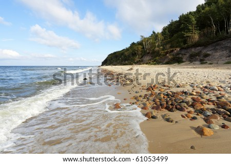 Stone of a Beach - stock photo