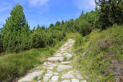 stone pathway in mountains, Slovakia