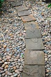 Stone pathway in stone garden