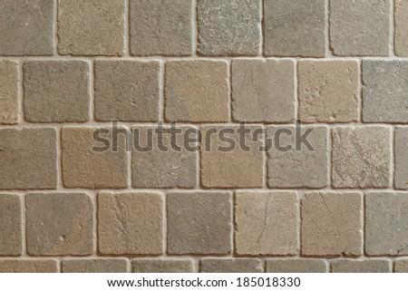 Stone pavement with square bricks texture/Square stones pavement/Square pavement texture background