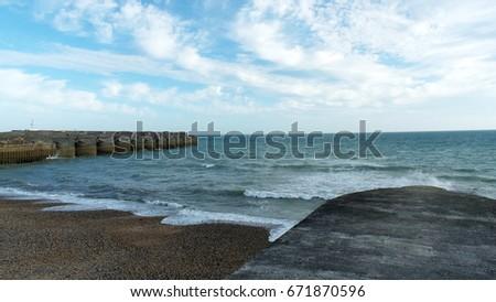 Stone pier #671870596