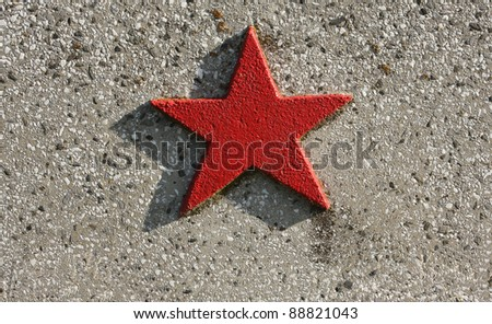 Stone red star