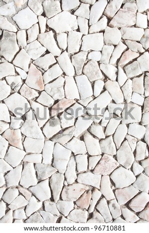 Stone road pavement