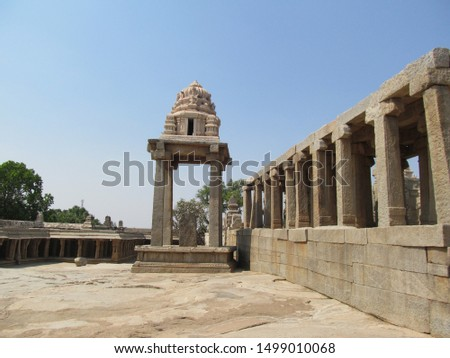 Stone roof , stone floor, stone pillar ,stone temple is constructed in excellent way. #1499010068