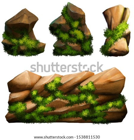Stone set assets for 2D game