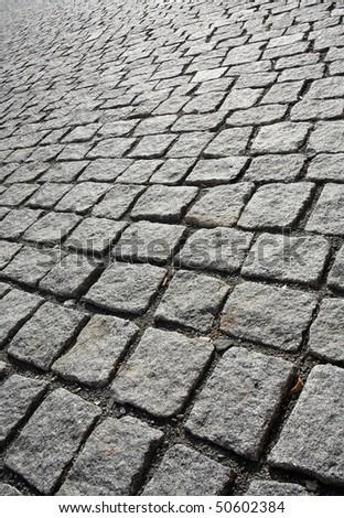 Stone sidewalk - handmade work.