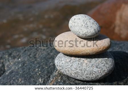 Stone stack near the sea