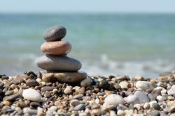 stone stack on beach