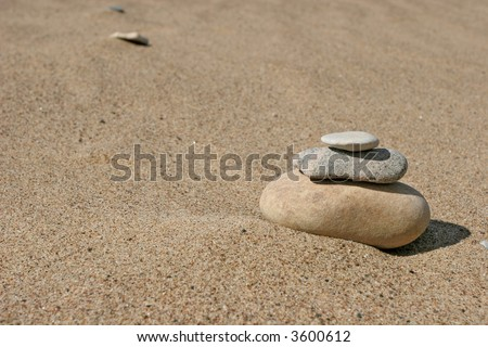 Stone stack on the sand