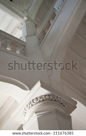 Stone staircase in a big old building