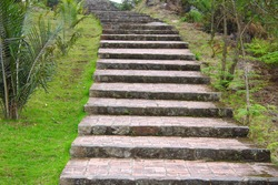 Stone stairway up a mountain track