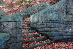 Stone steps in Autumn