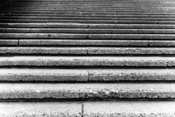 stone steps in black and white