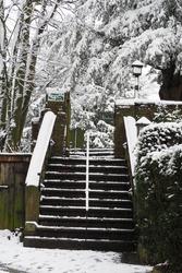 Stone Steps to St James Church Gawsworth Village